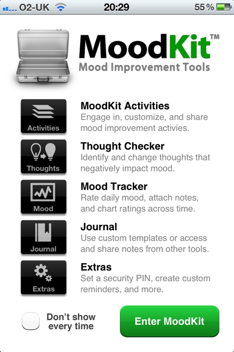 MoodKit iPhone app screenshot